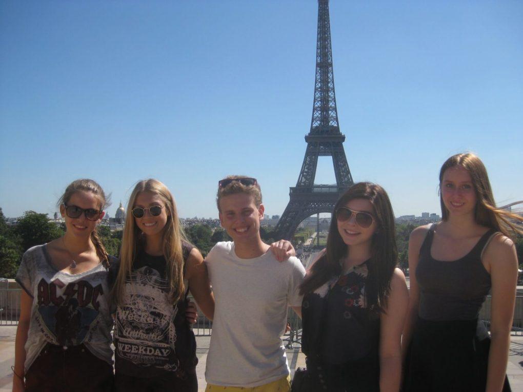 france Eiffel Tower Students