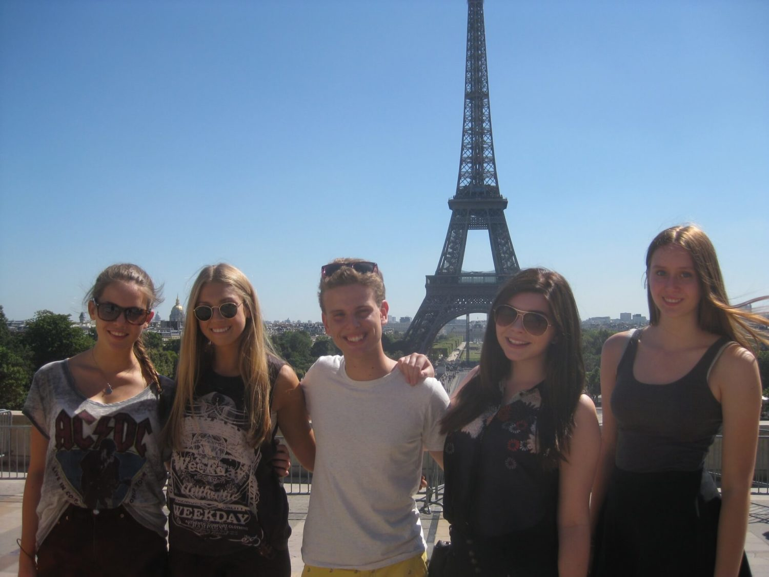 france Eiffel Tower Students