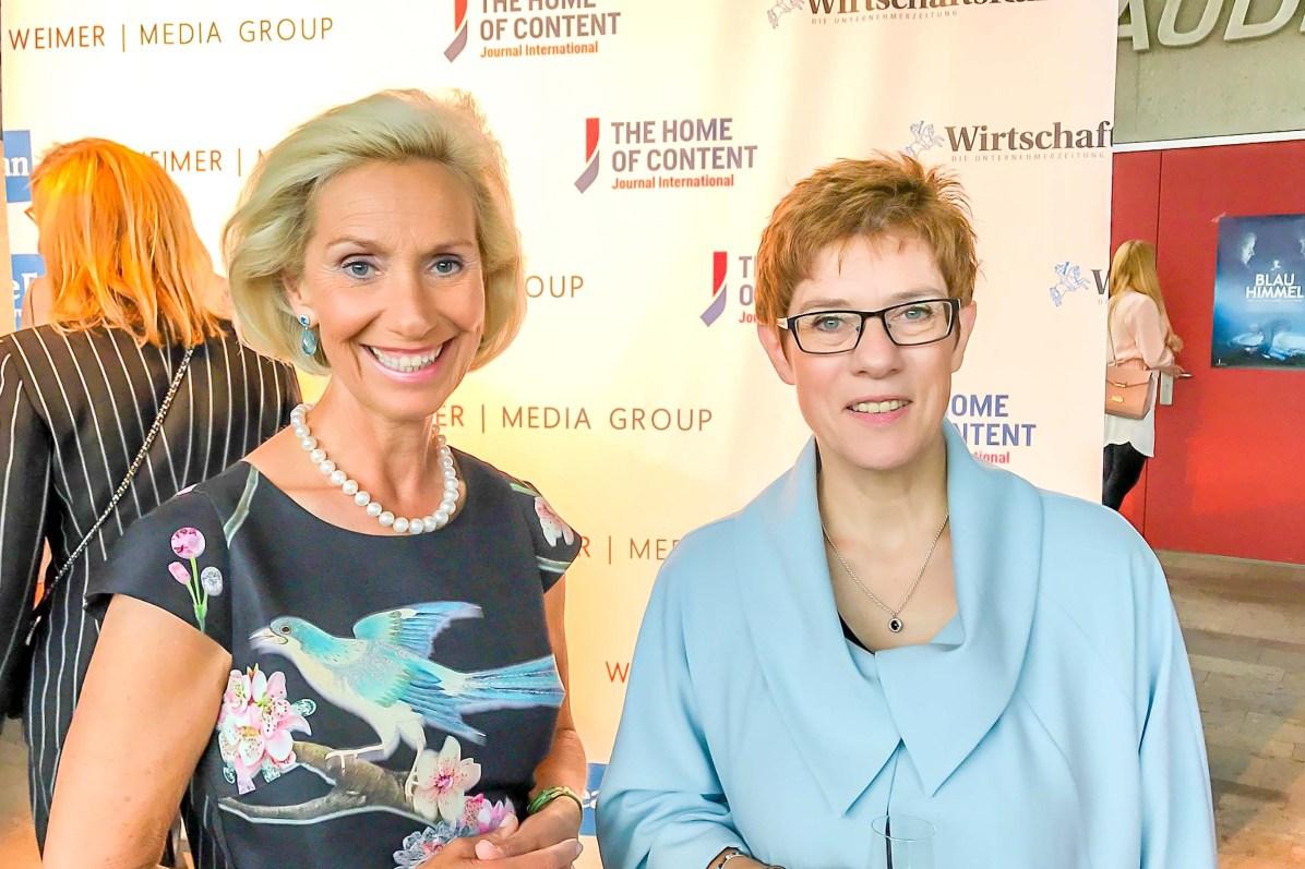 Kristina Tröger Ministerpräs. Annegret Kramp-Karrenbauer