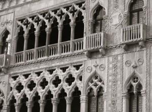 An der Fassade der Ca´d´Oro gibt es viele feine Details zu entdecken
