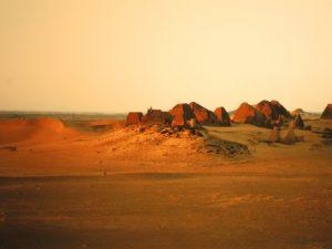 Die Pyramiden im Abendlicht