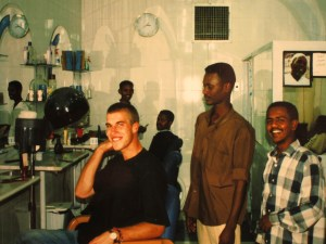 Beim Friseur in Khartum