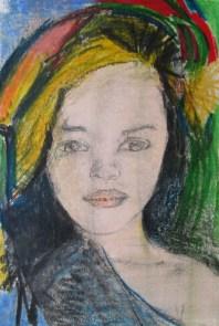 "Zeichung ""Tropical Portrait I"""