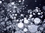Luftblasen im Eis