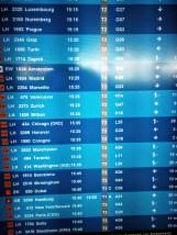 MUC - Destinations: Wo man innerhalb der nächsten 30 Minuten alles hinfliegen könnte...