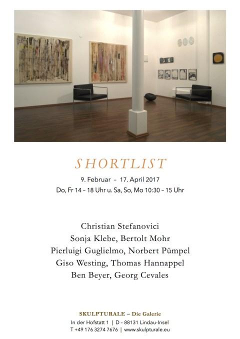 Shortlist - Ausstellung in der Galerie Skulpturale