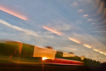 Dortmund - Abfahrt am frühen Abend