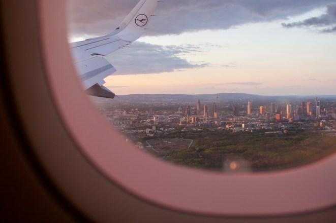 LH 331 - Blick auf Frankfurt beim Landeanflug