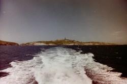 Montague Island - Fahrt mit dem Boot zurück über den Pazifik von der als Natur Reservat geschützten Insel in Australien