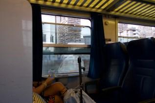 Neapel - Abfahrt vom Bahnhof Napoli Centrale