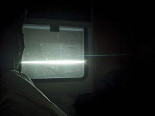 Venedig - Lichter vor dem Fenster im Nachtzug nach München