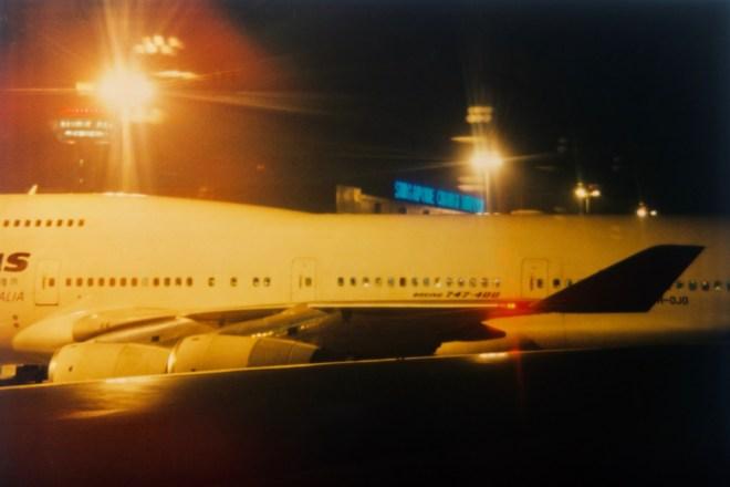 SIN - Singapore Changi Airport aus dem Flugzeugfenster