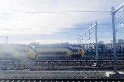 Einfahrt in den Bahnhof von Utrecht