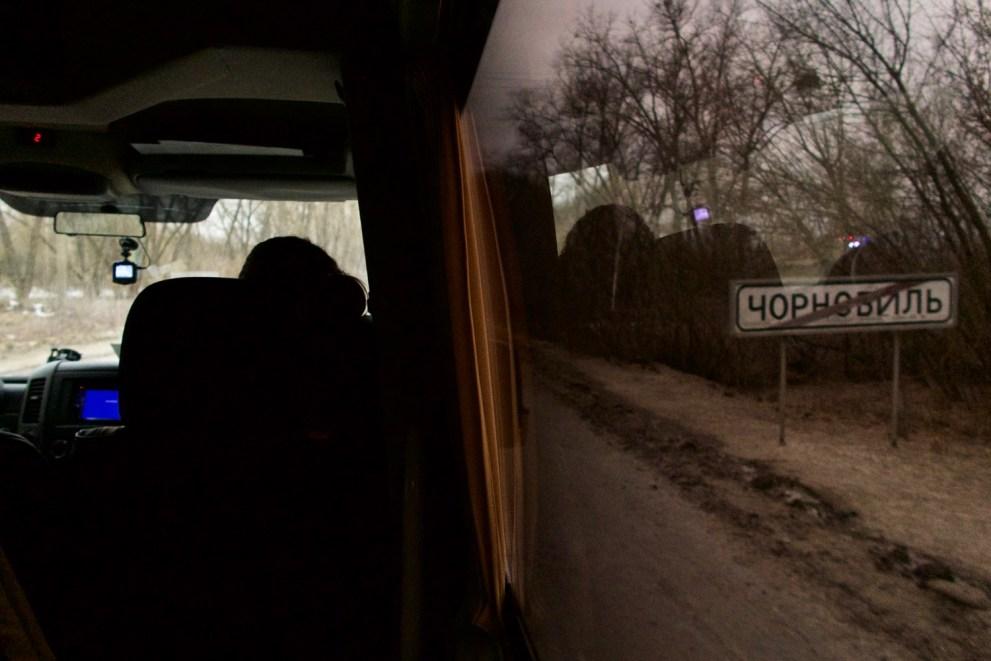 Tschernobyl - Fahrt zurück nach einem Tag in der radioaktiven Sperrzone
