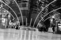 Frankfurt Flughafen Fernbahnhof abends