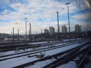 Gleise im Schnee