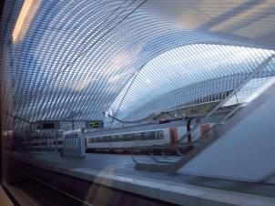 Am Bahnhof von Liege, Belgien