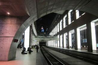 Antwerpen - der Hauptbahnhof an einem Dezemberabend