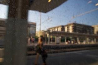 Aus dem Fiumicino Express in Rom