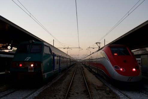 Venezia St. Lucia - Wartende Züge