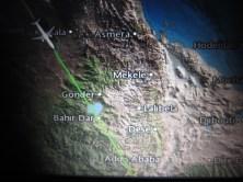 TK 676 - Informationen während des Flugs nach Addis