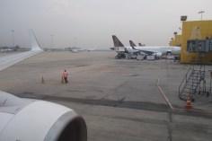 Früher Morgen in New Delhi Airport