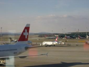In Zürich am Flughafen