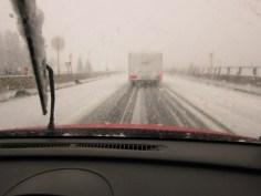 Brennerautobahn - im Winter bei glatter Fahrbahn
