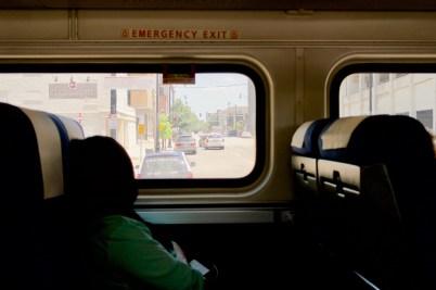 Blick aus dem Fenster in Springfield/ Illinois