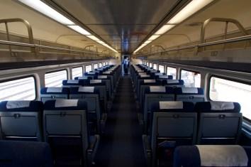 St. Louis: Wenn man als erster in den Zug einsteigt, hat man die freie Platzwahl - hier völlig ohne Reservierungen.