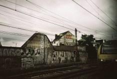 Belgien -Unterwegs im Zug bei Brüssel
