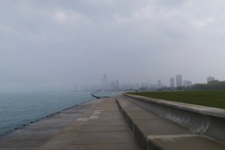 Spaziergang am Ufer des Michigansees
