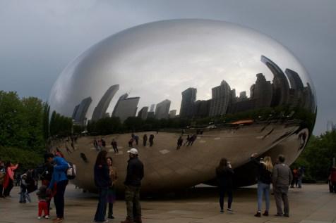 Sehenswürdigkeit: Das Cloud Gate an meinem ersten Tag in Chicago
