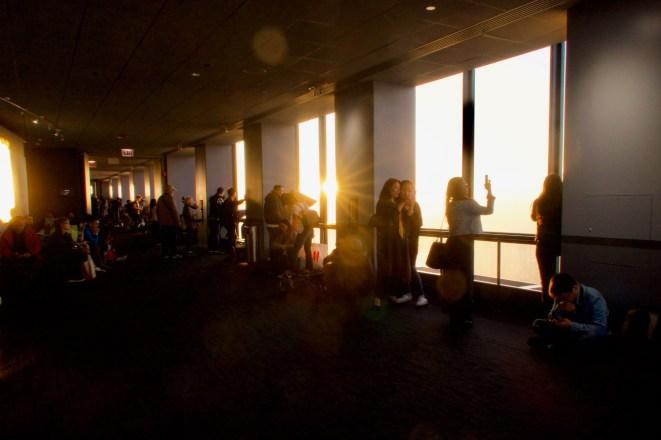 Abendsonne auf dem Skydeck im Willis Tower Chicago