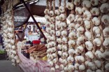Reichlich Knoblauch auf dem Zibin Markt