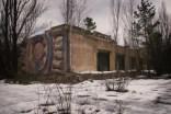 Sowjetisches Mosaik an einem Haus