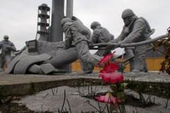 Ein Denkmal für die Feuerwehrmänner, die bei ihrem Einsatz oft tödlich verstrahlt wurden.