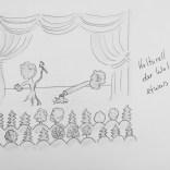 Kulturell mags der Wald gerne etwas wilder - Zeichnung