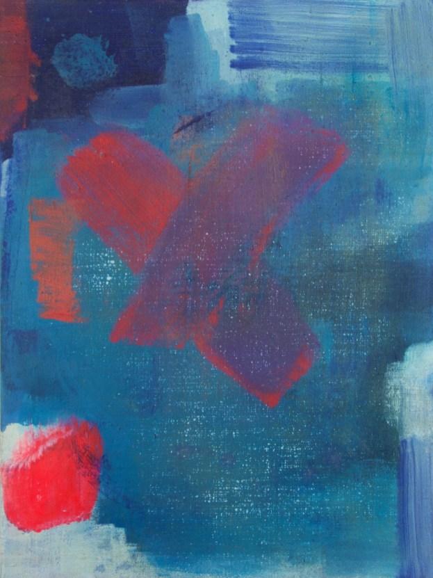 Blau: 3. Bild aus der Tempera Serie zu Rot, Gelb und Blau, 30x40 cm