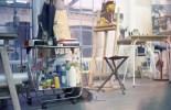 Meine Arbeitsplatz, mit der eingebauten Farbkorrektur des Scanners