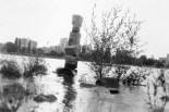 Skulptur am Rheinufer