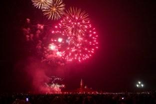 Feuerwerk an Sylvester in Venedig