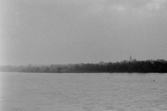 Mit dem Wephota Pan 100 am winterlichen Rheinufer,