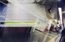 Doppelbelichtung U-Bahn Bonn - Grünes Licht