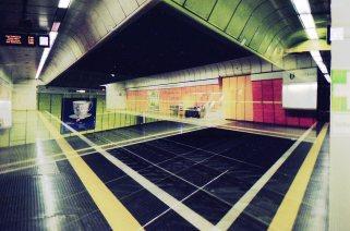 Doppelbelichtung U-Bahn Bonn - Spiegelsymmetrisch