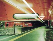Doppelbelichtung U-Bahn Bonn - Robert-Schuman-Platz