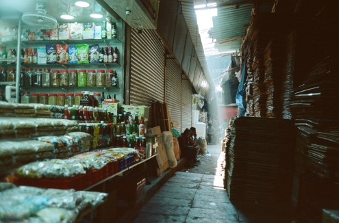 Ladengasse im Crawford Market Mumbai