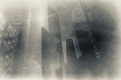 Water drops - Doppelt entwickeltes Fotoexperiment in Paris - Hochhäuser La Défense