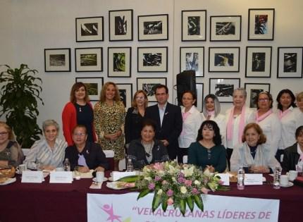 El Senador por Veracruz acudió a una reunión con integrantes de las asociaciones Veracruzanas Líderes de Opinión y Acción, y Juntos Venciendo al Cáncer