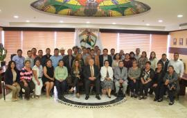 Magistrado Presidente del TSJVer, Edel Álvarez recibe a Jueces Municipales de la Zona Norte